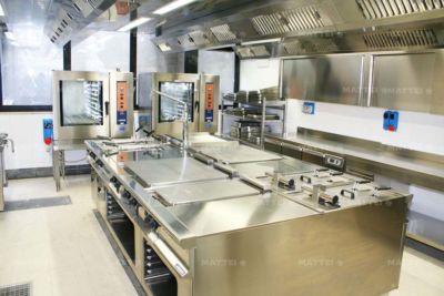 Cucine professionali per mense aziendali realizzate a Roma