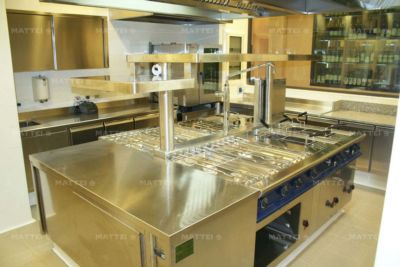 Progettazione Cucine professionali realizzate nei ristoranti di Roma