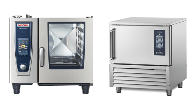 Cottura sottovuoto professionale con forno e abbattitore